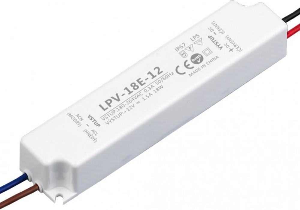 LED trafo 12V 18W LPV-18E-12