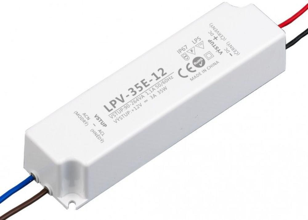 LED trafo 12V 35W LPV-35E-12