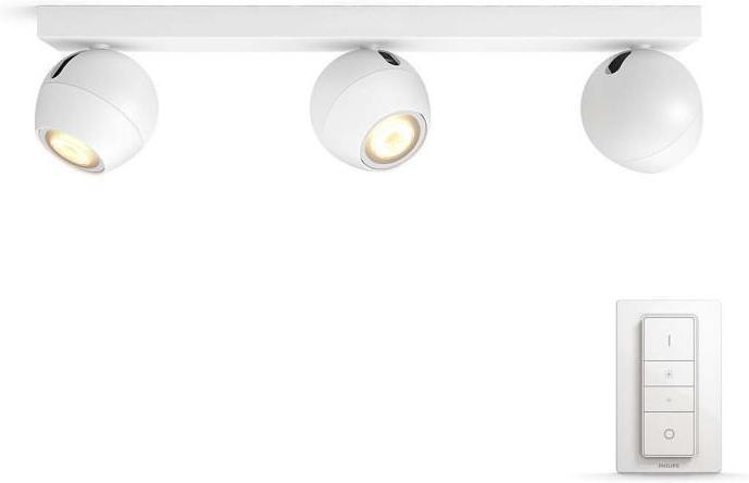 Philips HUE Buckram LED Strahler GU10 3x5,5W 3x250lm 3000 6000K Weiß 50473/31/P7