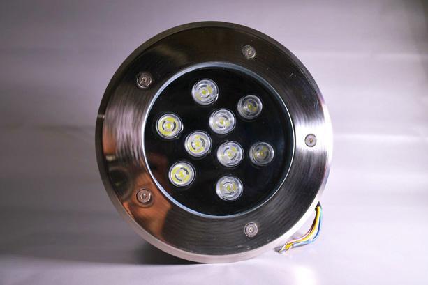 Boden einbaustrahler LED Lampe 9W RGB