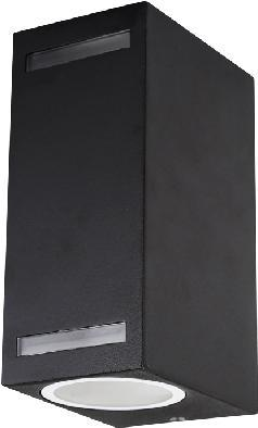 Schwarzes außen eckig Wand Beleuchtung 10W Tageslicht