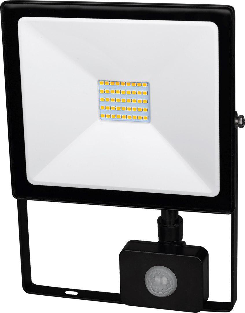 Schwarzer LED Strahler 30W SMD mit Sensor Kaltweiß