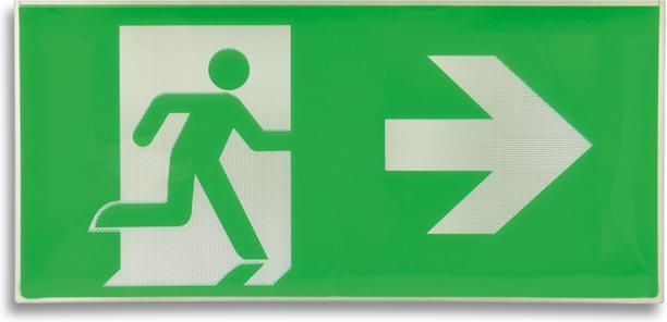 Kunststoff Zeichen EXIT nach 48 rechts
