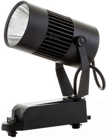 Schwarzer Phasen Schiene LED Strahler 20W Warmweiß