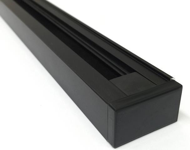 Schwarzer 1-Phasen Schiene system 2m