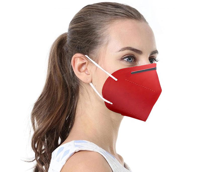 Rote Atemschutzmaske FFP2 / KN95 1 Stck