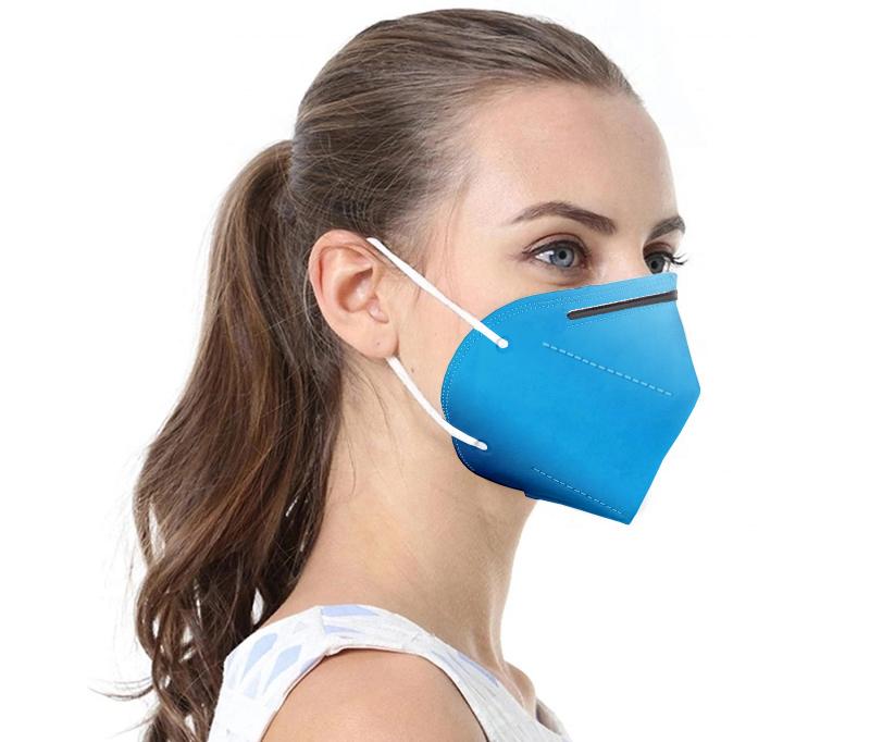 Blaue Atemschutzmaske FFP2 / KN95 1 Stck