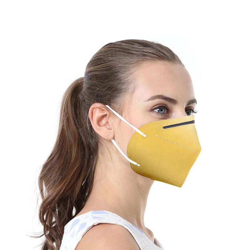 Gelbe Atemschutzmaske FFP2 / KN95 1 Stck