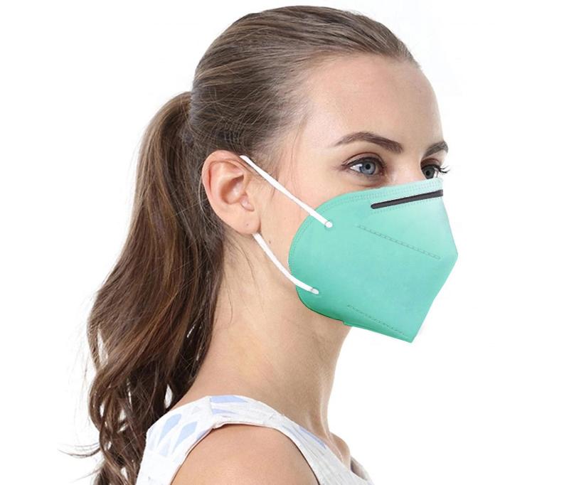 Grüne Atemschutzmaske FFP2 / KN95 1 Stck