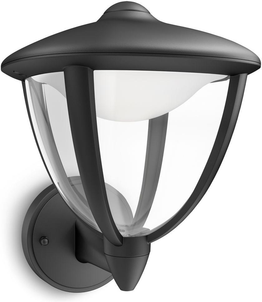 Philips LED Robin Lampe außen Wand schwarz 4,5W 15470/30/16
