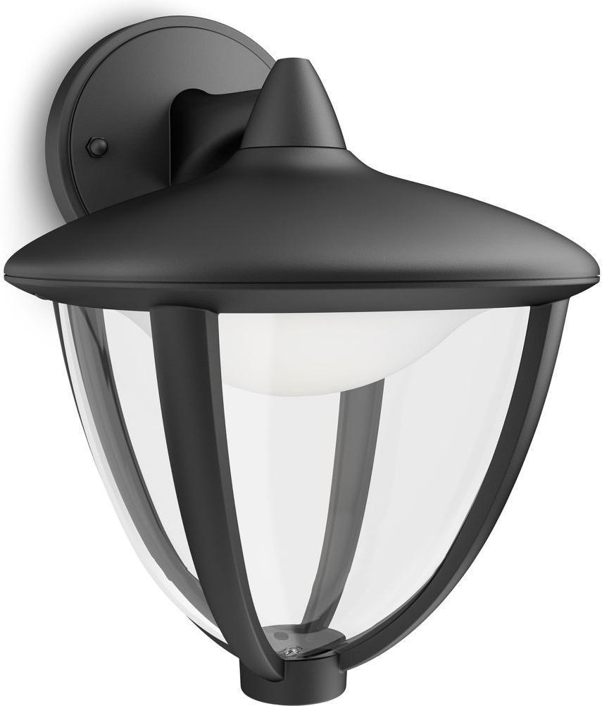 Philips LED Robin Lampe außen Wand schwarz 4,5W 15471/30/16