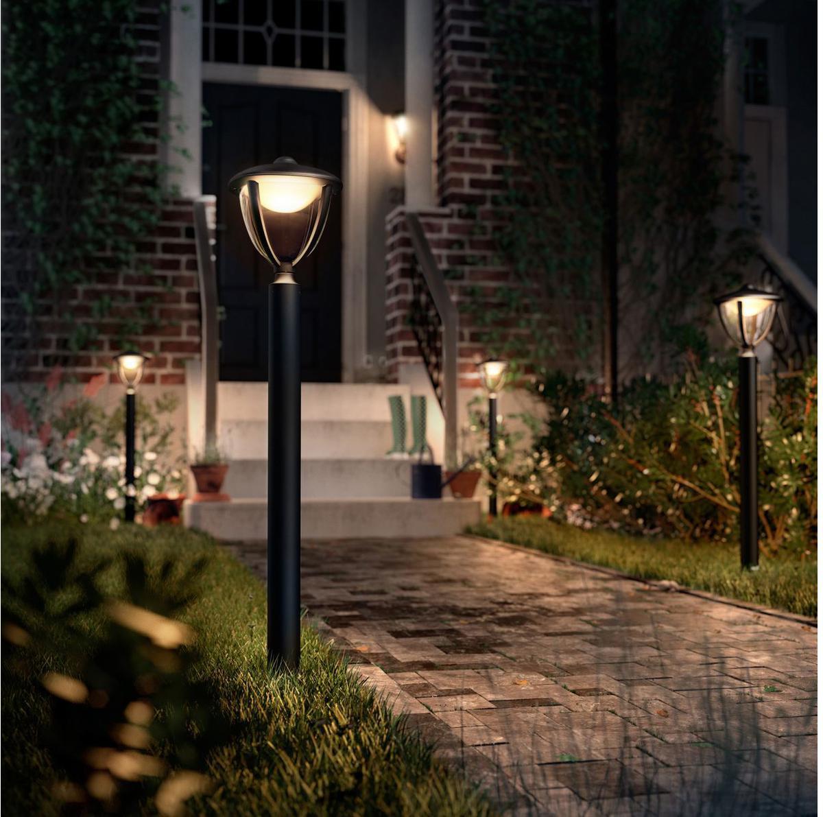 Philips LED Robin außen Pfeiler schwarz grosser 4,5W 15473/30/16