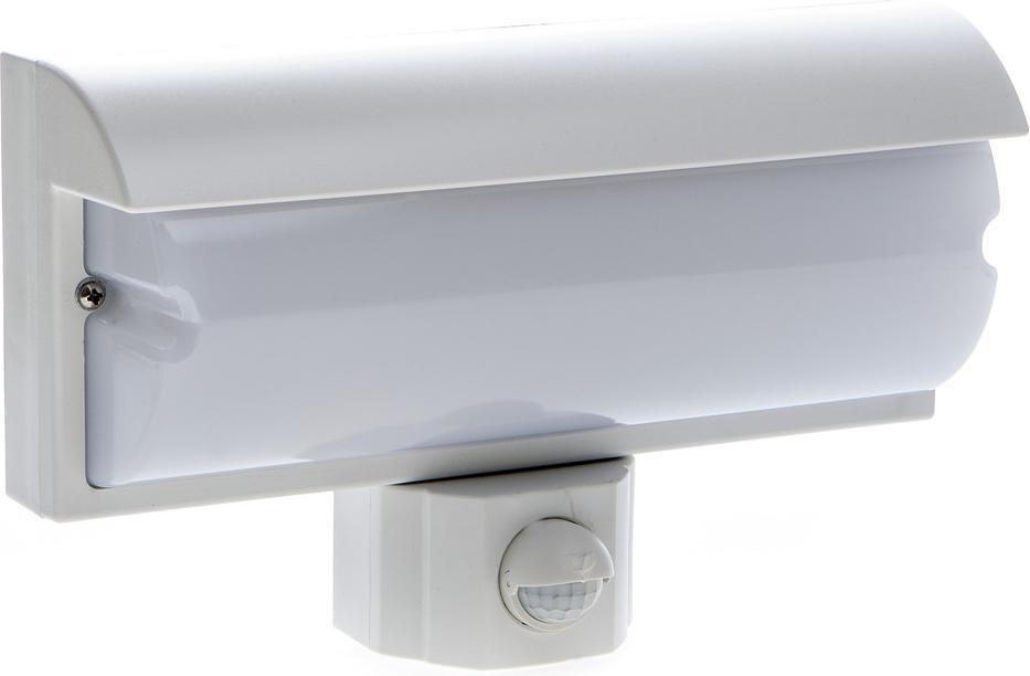 Wand LED Lampe 9,2W mit PIR Sensor weiss