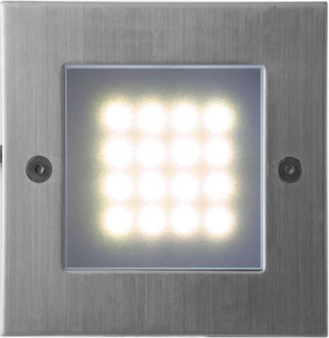 Eingebaute außen LED Lampe 1W 105 x 105mm Warmweiß