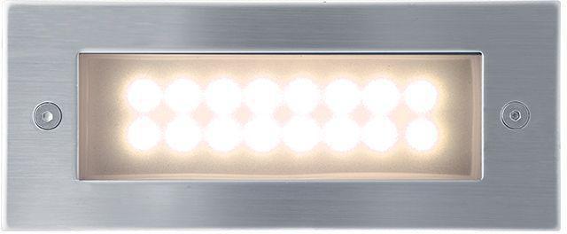 Eingebaute außen LED Lampe 1W 70 x 170mm Warmweiß