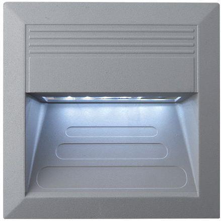 Eingebaute außen LED Lampe 1,1W 135 x 135mm Kaltweiß