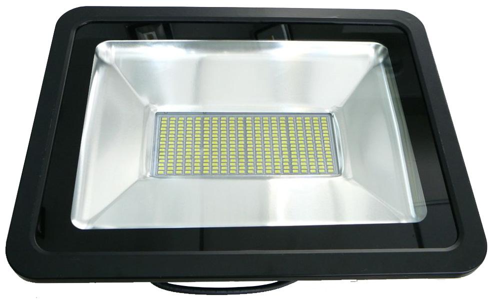 Schwarzer LED Strahler 150W SMD Warmweiß