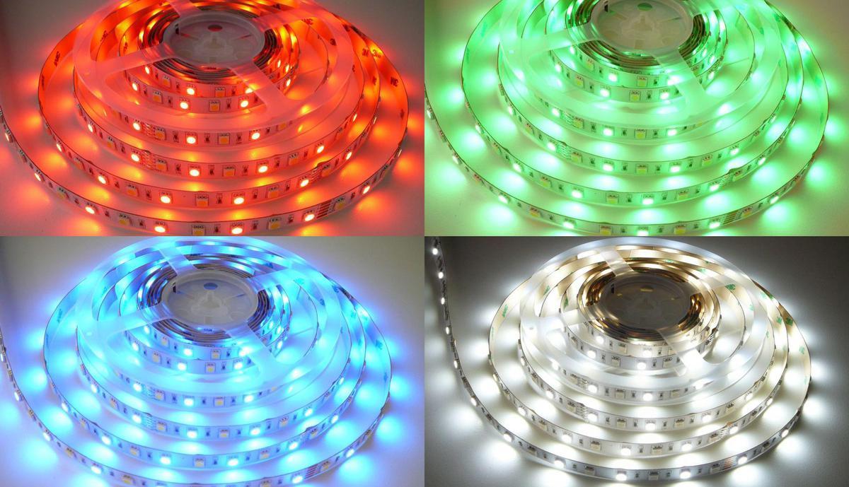 RGB LED Streifen 14,4W/m ohne Schutz