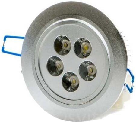 LED Einbaustrahler 5x 1W Warmweiß