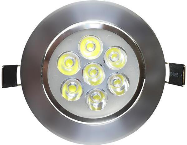 LED Spotlicht 7x 1W Kaltweiß