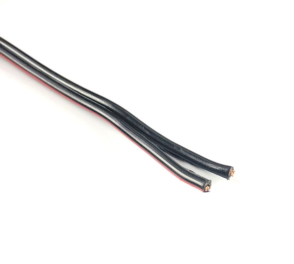 Kabel schwarz 2-adern max.50V