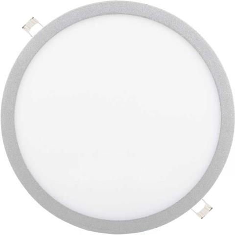 Dimmbarer Silbern runder eingebauter LED Panel 400mm 36W Kaltweiß