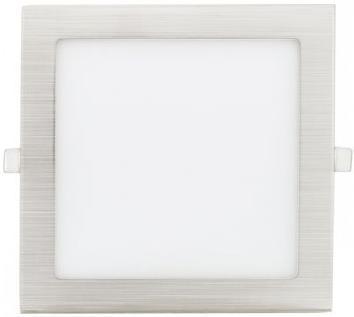 Matter chrom eingebauter LED Panel 90 x 90mm 3W Warmweiß
