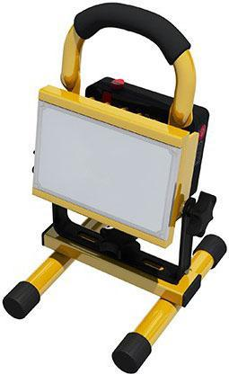 LED Strahler 10W mit Batterie profi Handy Tageslicht