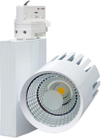 Weisser 3 Phasen Schiene LED Strahler 40W Tageslicht