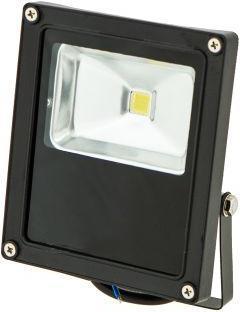 Schwarzer LED Strahler Daisy 10W Kaltweiß