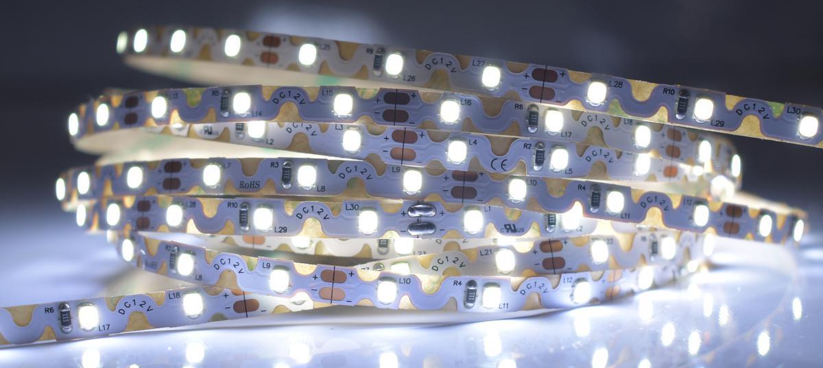 LED Streifen 6,2W/m 12V flexible Kaltweiß