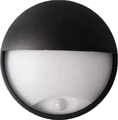 Schwarzes LED außen Wand Lampe 14W mit Sensor DITA cover Tageslicht