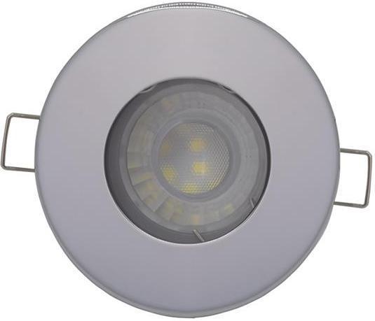 Chrom eingebaute decken LED Lampe 7,5W Tageslicht IP44 230V