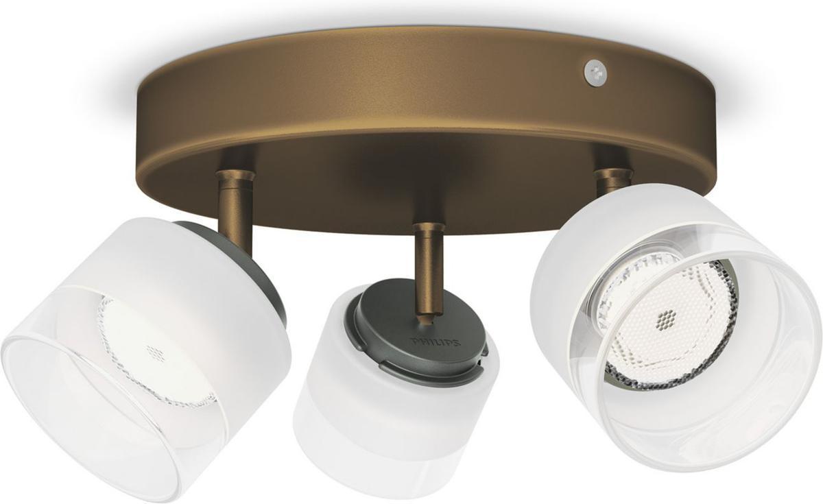 Philips LED Fremont Einbauspot bronze 3x4W 53333/06/16