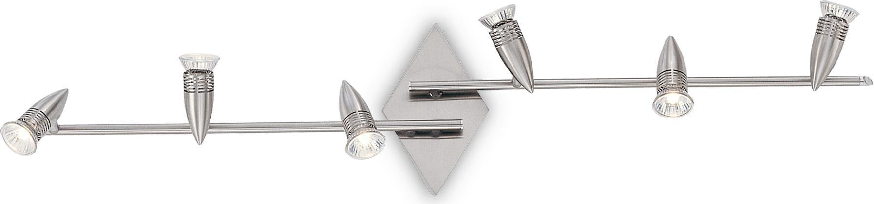 Ideal lux LED Alfa Nickel haengende Lampe 6x5W 6338