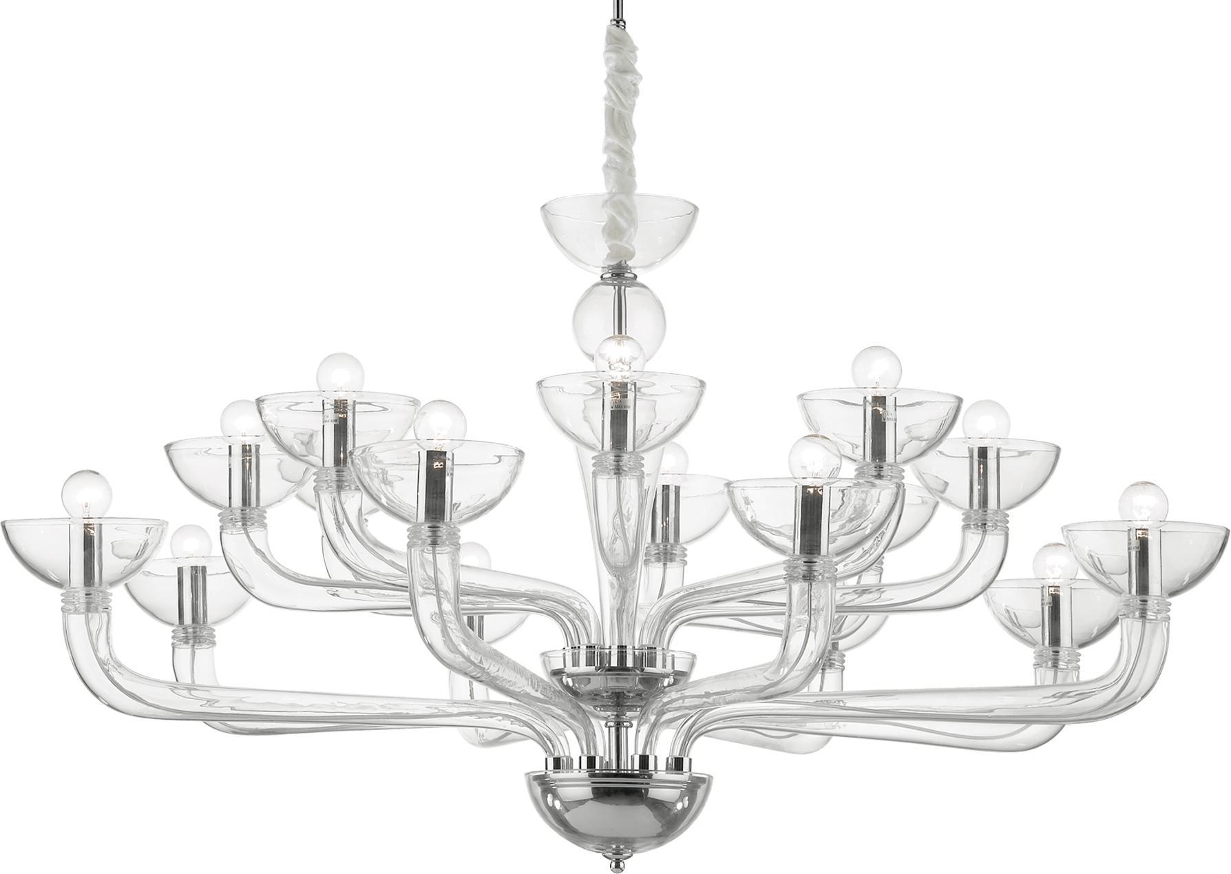 Ideal lux LED Casanova 6 trasparente Kronleuchter 6x5W 44248