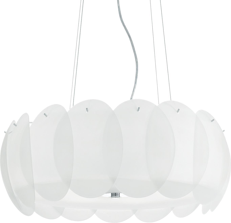 Ideal lux LED Ovalino bianco haengende Lampe 8x5W 90481