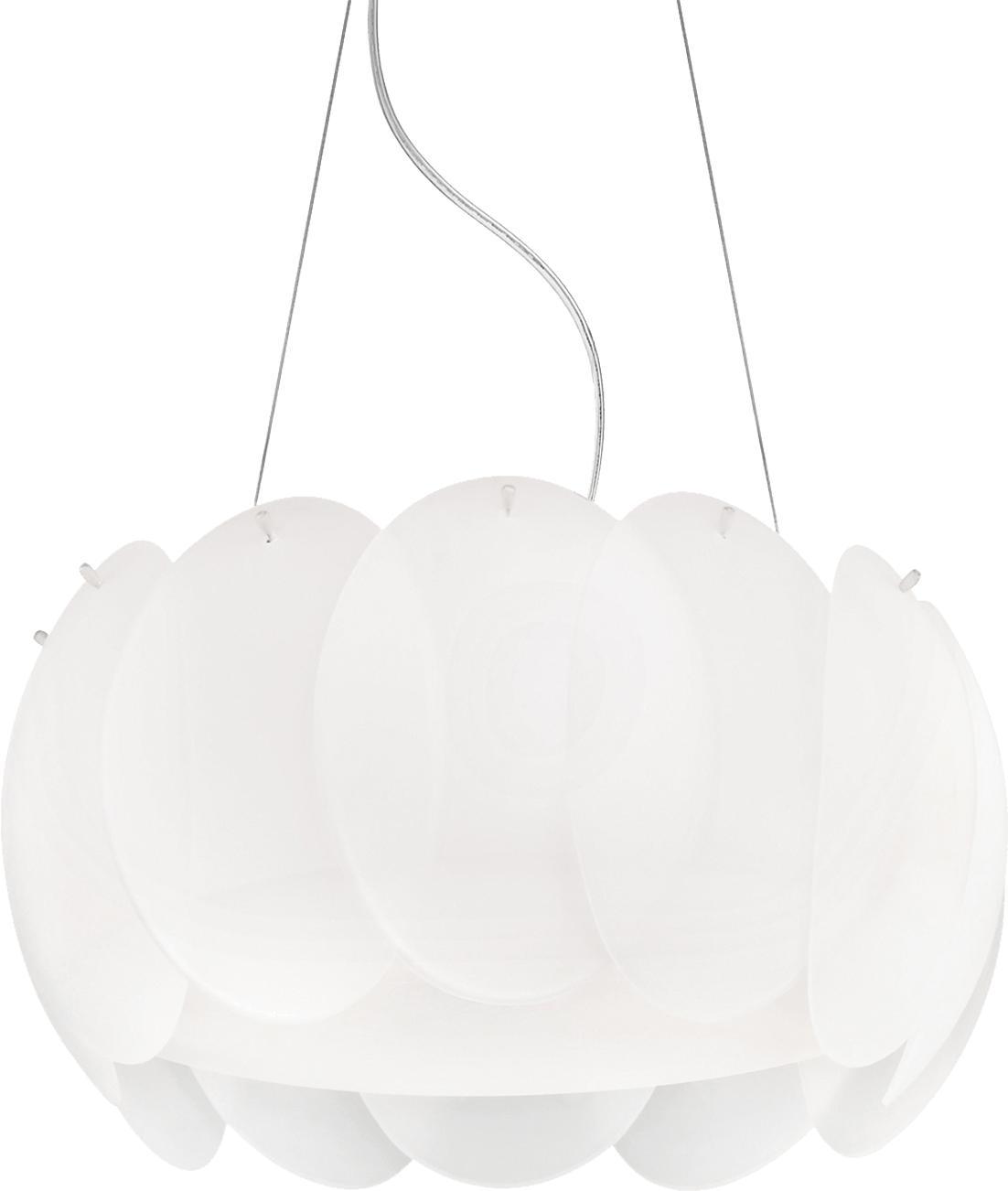 Ideal lux LED Ovalino bianco haengende Lampe 5x5W 74139