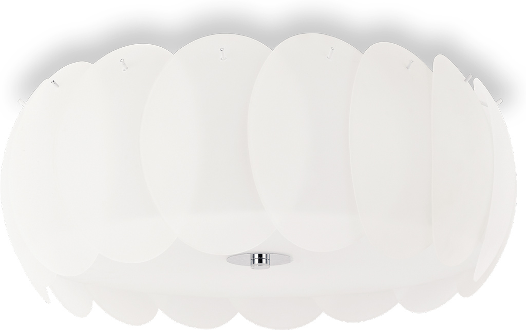 Ideal lux LED Ovalino bianco decken Lampe 8x5W 94014