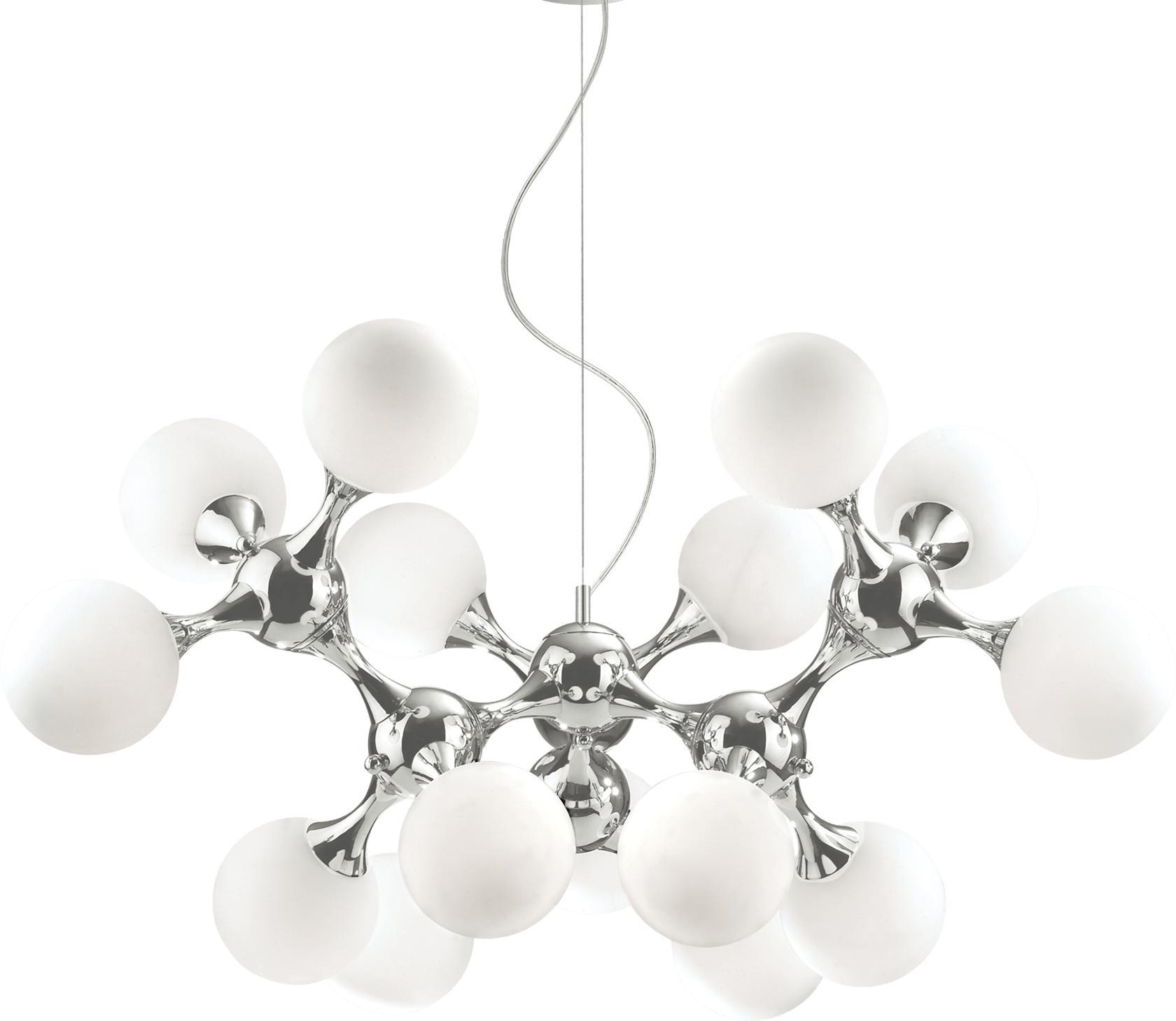 Ideal lux LED Nodi bianco 5 haengende Lampe 15x5W 82073