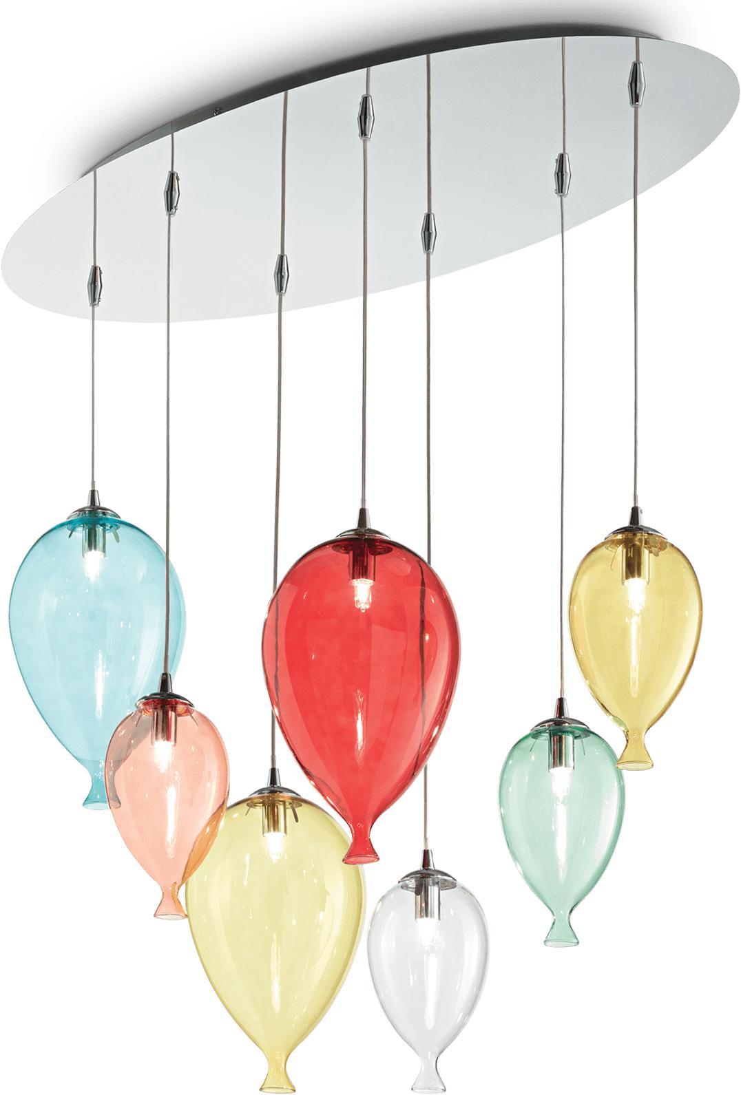 Ideal lux LED Clown color haengende Lampe 7x4,5W 100937