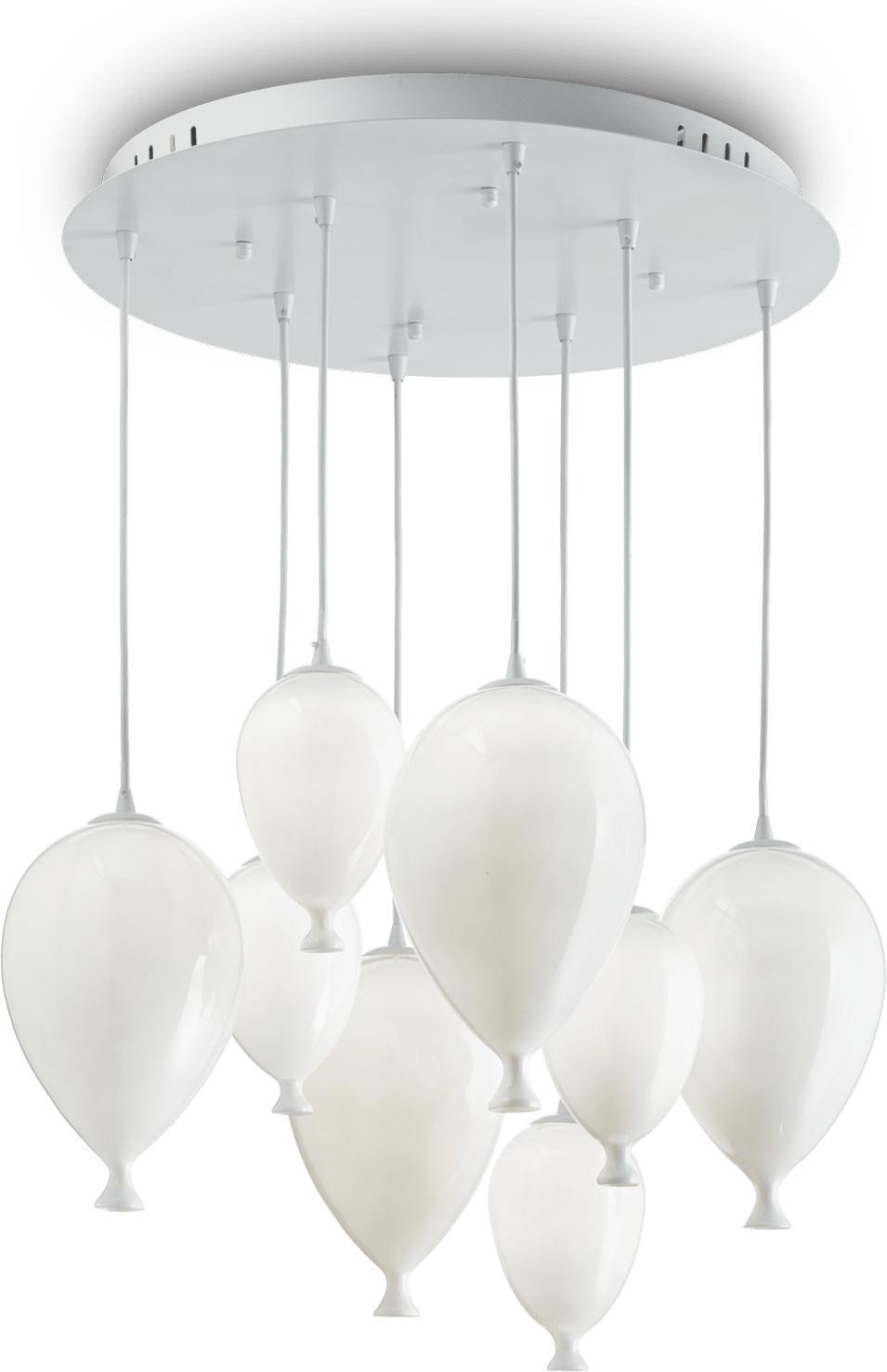 Ideal lux LED Clown bianco haengende Lampe 8x4,5W 100883