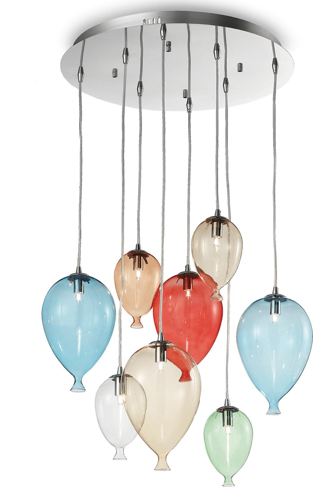 Ideal lux LED Clown color haengende Lampe 8x4,5W 100944