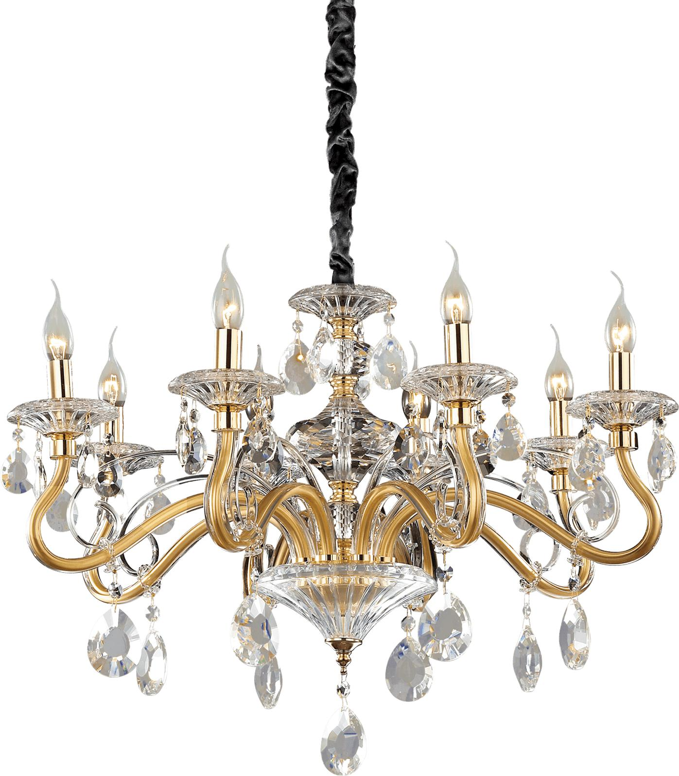 Ideal lux LED Negresco Kronleuchter 8x5W 87764