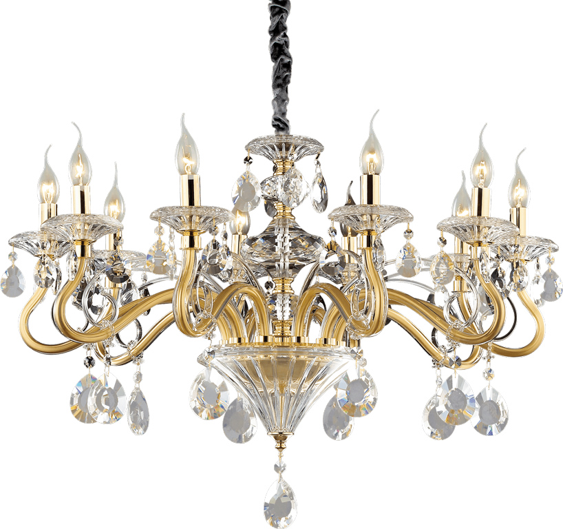 Ideal lux LED Negresco Kronleuchter 10x5W 87771