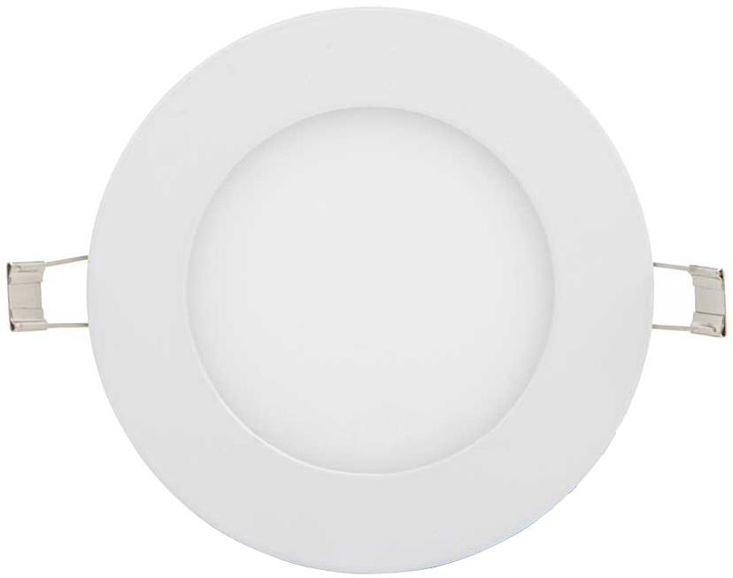 Weisser runder eingebauter LED Panel 120mm 6W Tageslicht