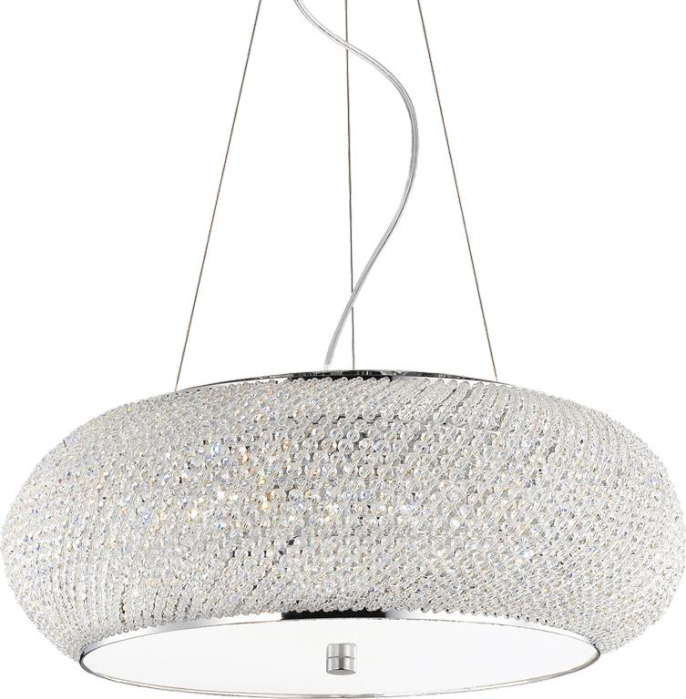 Ideal lux LED Pasha Cromo haengende Lampe 10x5W 82196
