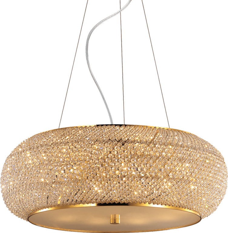 Ideal lux LED Pasha Oro haengende Lampe 10x5W 82257