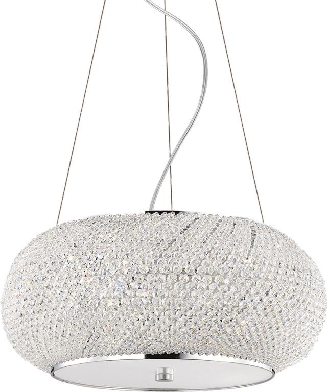 Ideal lux LED Pasha Cromo haengende Lampe 6x5W 82158
