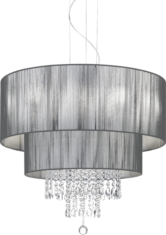 Ideal lux LED Opera nero Kronleuchter 6x5W 103327